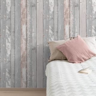 Wood Panels Blush Wallpaper