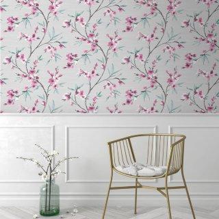 Cheap Floral Wallpaper Cheap Wallpaper Styles Diy B M Stores