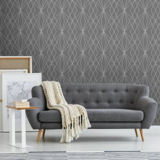 Laser Grey Silver Wallpaper