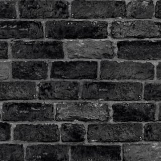 House Brick Black Wallpaper
