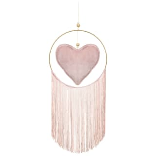 Plush Heart Dreamcatcher - Blush