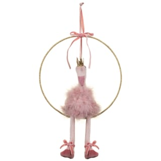 Hanging Plush Flamingo Hoop