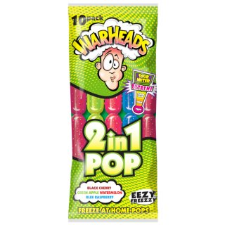 Warheads Sour Ice Pops 10pk