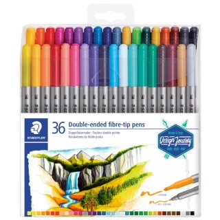 Staedtler Double Ended Fibre Tip Pens 36pk