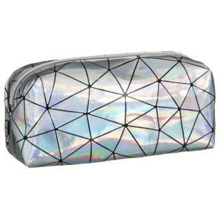 Holographic Pencil Case - Silver
