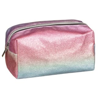 Jumbo Holographic Pencil Case - Glitter Rainbow