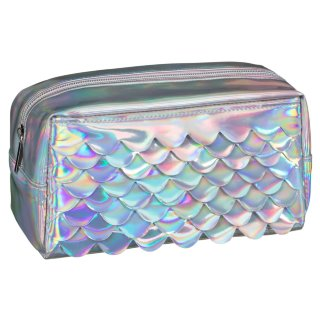 Jumbo Holographic Pencil Case - Mermaid Silver