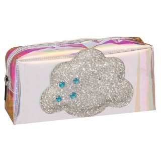Iridescent Icon Pencil Case - Silver Cloud