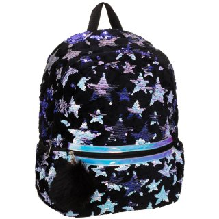 Star Sequin Backpack - Black