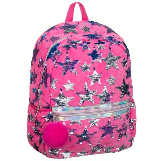 Star Sequin Backpack - Pink