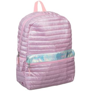 Quilted Shine Backpack - Pink