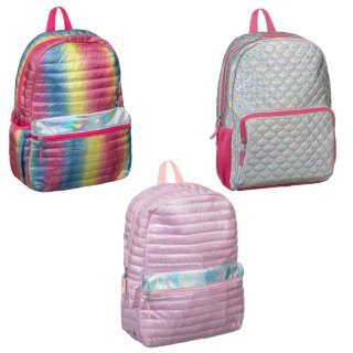 Quilted Shine Backpack - Mermaid Shell