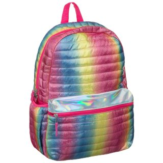 Quilted Shine Backpack - Rainbow