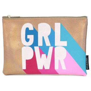 Metallic Icon Pencil Case - Grl Pwr