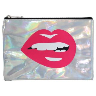 Metallic Icon Pencil Case - Lips
