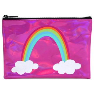 Metallic Icon Pencil Case - Rainbow