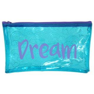 Tinted Embossed PVC Pencil Case - Dream