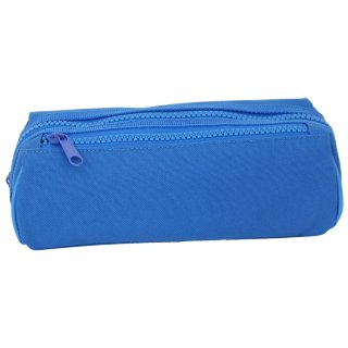 Double Zipped Pencil Case - Blue