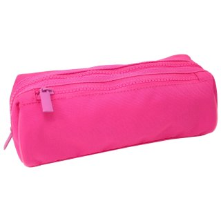 Double Zipped Pencil Case - Pink