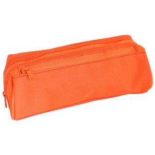 Double Zipped Pencil Case - Orange