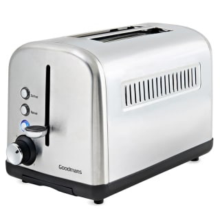 Goodmans 2 Slice Wide Slot Stainless Steel Toaster - Silver
