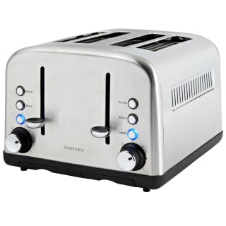 Goodmans 4 Slice Wide Slot Stainless Steel Toaster - Silver