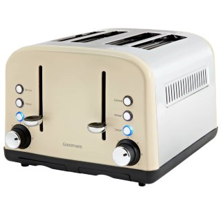 Goodmans 4 Slice Wide Slot Stainless Steel Toaster - Cream