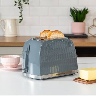 Russell Hobbs Honeycomb Toaster - Grey