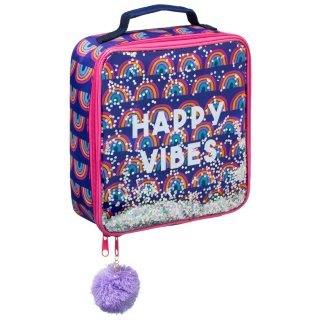 Glitter Filled Lunch Bag - Happy Vibes