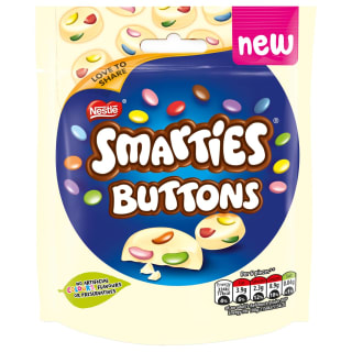 Smarties White Chocolate Buttons 90g