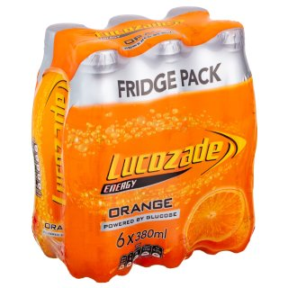 Lucozade Energy Orange 6 x 380ml