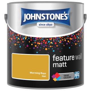 Johnstone's Feature Wall Matt Paint 2.5L - Warming Rays