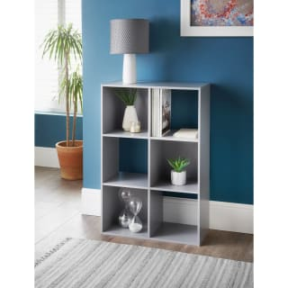 Lokken 6 Cube Shelving Unit - Grey