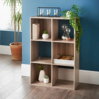 Lokken 6 Cube Shelving Unit - Oak