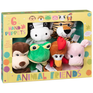 Animal Friends Hand Puppets 6pk