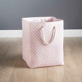 Striped Laundry Bag - Blush