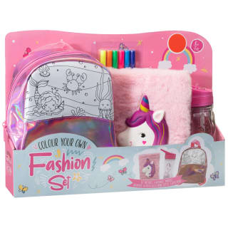Colour Your Own Fashion Set - Pink
