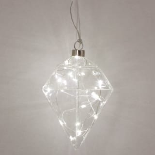 Hanging Diamond LED - Clear