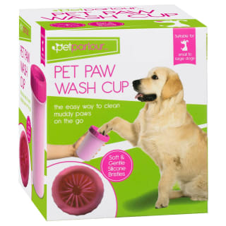 Pet Paw Wash Cup - Pink