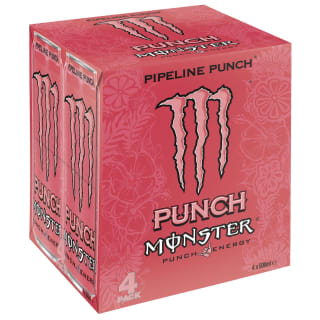 Monster Pipeline Punch Energy Drink 4 x 500ml