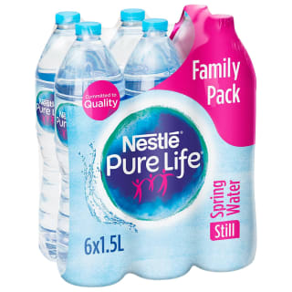 Nestle Pure Life Still Spring Water Family Pack 6 x 1.5L