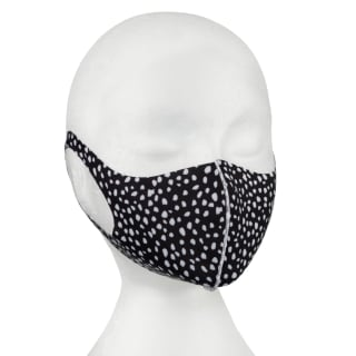 Reusable Printed Fabric Face Cover - Black & White