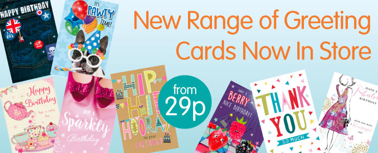 New range of greeting cards now at B&M