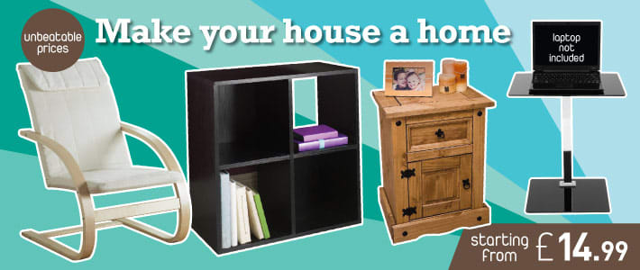 Make your house at home. Unbeatable prices ay B&M Stores.