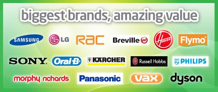 Biggest electrical brands, amazing value at B&M stores.
