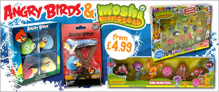 Angry Birds & Moshi Monsters from £4.99 at B&M Bargains