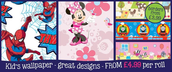Kids Wallpaper Great Designs from B&M Stores
