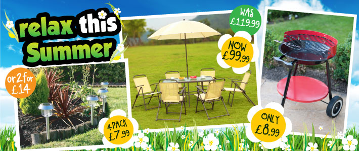 Relax This Summer Gardening bargains at B&M Stores
