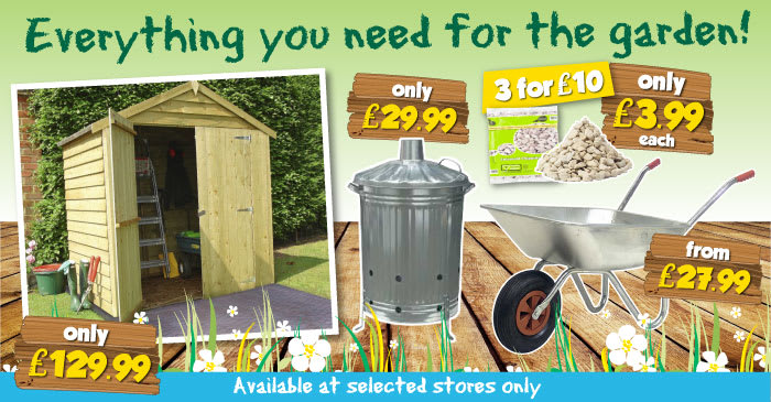 Everything You Need for the Garden at B&M Garden Centres.