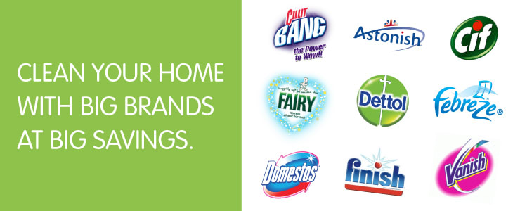 Clean your home with Big Brands at Big Savings.